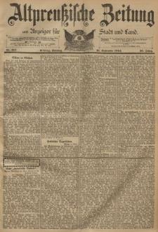 Altpreussische Zeitung, Nr. 217 Sonntag 16 September 1894, 46. Jahrgang