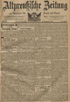 Altpreussische Zeitung, Nr. 226 Donnerstag 27 September 1894, 46. Jahrgang