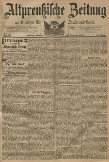 Altpreussische Zeitung, Nr. 229 Sonntag 30 September 1894, 46. Jahrgang