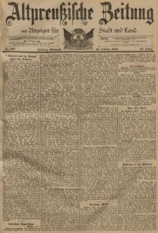 Altpreussische Zeitung, Nr. 237 Mittwoch 10 Oktober 1894, 46. Jahrgang