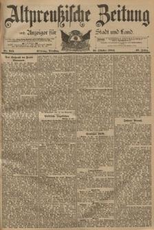 Altpreussische Zeitung, Nr. 242 Dienstag 16 Oktober 1894, 46. Jahrgang