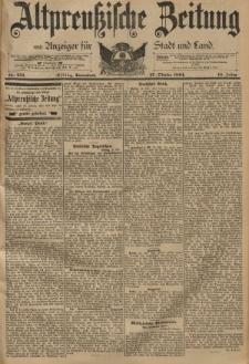 Altpreussische Zeitung, Nr. 252 Sonnabend 27 Oktober 1894, 46. Jahrgang