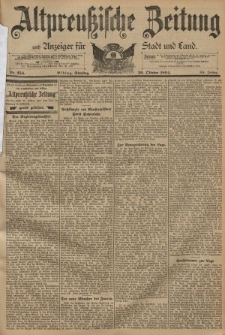 Altpreussische Zeitung, Nr. 254 Dienstag 30 Oktober 1894, 46. Jahrgang