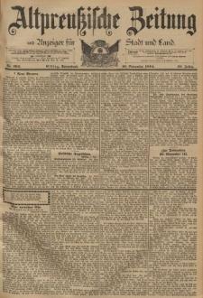 Altpreussische Zeitung, Nr. 264 Sonnabend 10 November 1894, 46. Jahrgang
