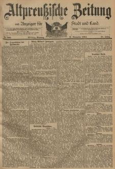 Altpreussische Zeitung, Nr. 265 Sonntag 11 November 1894, 46. Jahrgang