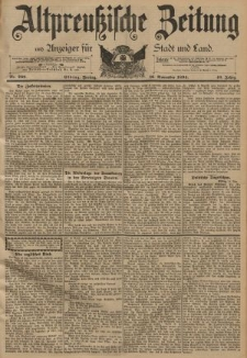 Altpreussische Zeitung, Nr. 269 Freitag 16 November 1894, 46. Jahrgang