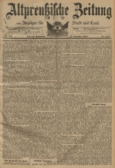 Altpreussische Zeitung, Nr. 270 Sonnabend 17 November 1894, 46. Jahrgang