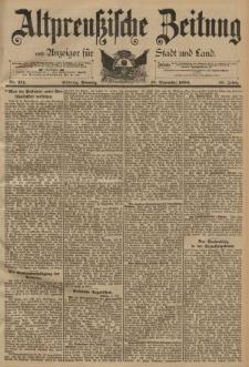 Altpreussische Zeitung, Nr. 271 Sonntag 18 November 1894, 46. Jahrgang