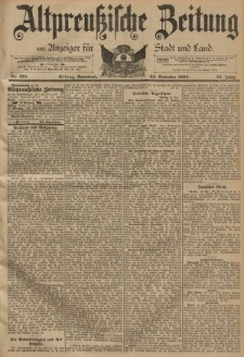 Altpreussische Zeitung, Nr. 275 Sonnabend 24 November 1894, 46. Jahrgang