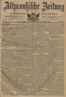 Altpreussische Zeitung, Nr. 277 Dienstag 27 November 1894, 46. Jahrgang