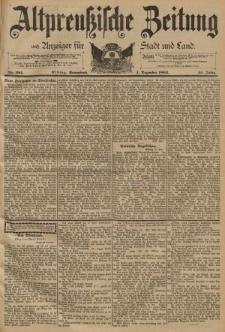Altpreussische Zeitung, Nr. 281 Sonnabend 1 Dezember 1894, 46. Jahrgang