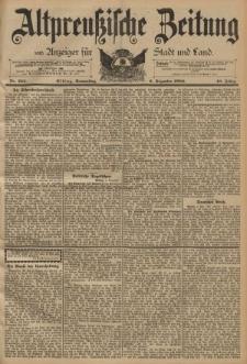 Altpreussische Zeitung, Nr. 285 Donnerstag 6 Dezember 1894, 46. Jahrgang