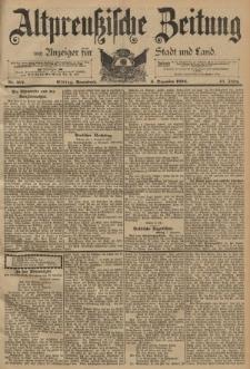 Altpreussische Zeitung, Nr. 287 Sonnabend 8 Dezember 1894, 46. Jahrgang