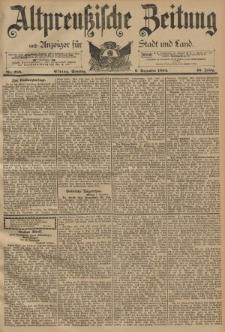 Altpreussische Zeitung, Nr. 288 Sonntag 9 Dezember 1894, 46. Jahrgang