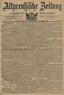 Altpreussische Zeitung, Nr. 290 Mittwoch 12 Dezember 1894, 46. Jahrgang