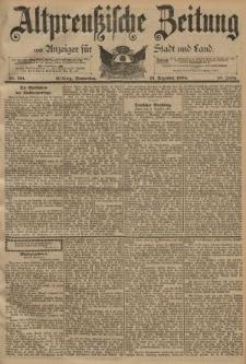 Altpreussische Zeitung, Nr. 291 Donnerstag 13 Dezember 1894, 46. Jahrgang