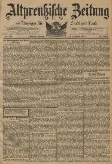 Altpreussische Zeitung, Nr. 292 Freitag 14 Dezember 1894, 46. Jahrgang