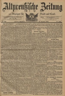 Altpreussische Zeitung, Nr. 293 Sonnabend 15 Dezember 1894, 46. Jahrgang