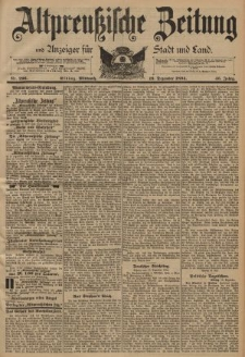 Altpreussische Zeitung, Nr. 296 Mittwoch 19 Dezember 1894, 46. Jahrgang