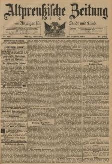 Altpreussische Zeitung, Nr. 297 Donnerstag 20 Dezember 1894, 46. Jahrgang
