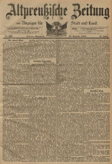 Altpreussische Zeitung, Nr. 299 Sonnabend 22 Dezember 1894, 46. Jahrgang