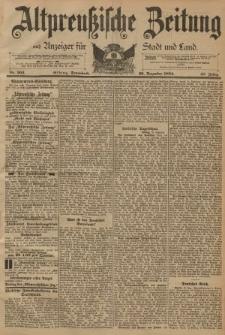 Altpreussische Zeitung, Nr. 303 Sonnabend 29 Dezember 1894, 46. Jahrgang