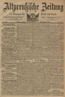 Altpreussische Zeitung, Nr. 304 Sonntag 30 Dezember 1894, 46. Jahrgang