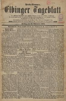 Elbinger Tageblatt, Freitag 28 November 1884