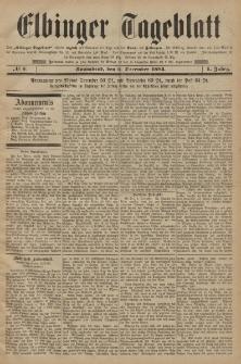 Elbinger Tageblatt, Nr. 5 Sonnabend 6 Dezember 1884 1. Jahrgang