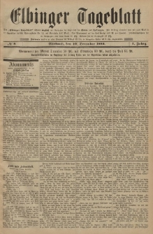 Elbinger Tageblatt, Nr. 7 Dienstag 9 Dezember 1884 1. Jahrgang