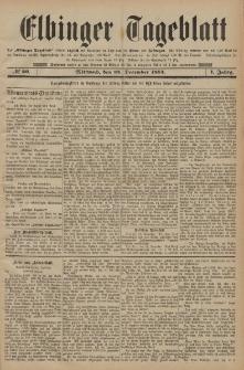 Elbinger Tageblatt, Nr. 20 Mittwoch 24 Dezember 1884 1. Jahrgang