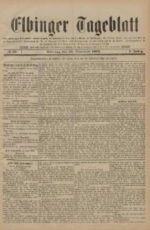 Elbinger Tageblatt, Nr. 22 Sonntag 28 Dezember 1884 1. Jahrgang