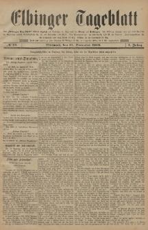 Elbinger Tageblatt, Nr. 24 Mittwoch 31 Dezember 1884 1. Jahrgang