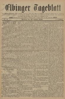 Elbinger Tageblatt, Nr. 13 Freitag 16 Januar 1885 2. Jahrgang