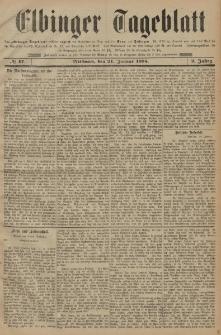 Elbinger Tageblatt, Nr. 17 Mittwoch 21 Januar 1885 2. Jahrgang