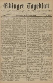 Elbinger Tageblatt, Nr. 18 Donnerstag 22 Januar 1885 2. Jahrgang