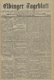 Elbinger Tageblatt, Nr. 23 Mittwoch 28 Januar 1885 2. Jahrgang