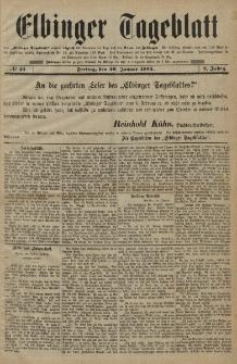 Elbinger Tageblatt, Nr. 25 Freitag 30 Januar 1885 2. Jahrgang