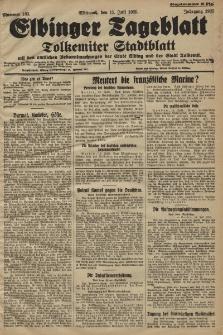 Elbinger Tageblatt, Nr. 163 Mittwoch 15 Juli 1925