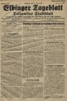 Elbinger Tageblatt, Nr. 168 Dienstag 21 Juli 1925