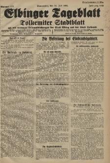 Elbinger Tageblatt, Nr. 170 Donnerstag 23 Juli 1925