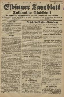 Elbinger Tageblatt, Nr. 178 Sonnabend 1 August 1925