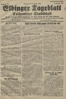 Elbinger Tageblatt, Nr. 179 Montag 3 August 1925