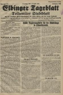 Elbinger Tageblatt, Nr. 180 Dienstag 4 August 1925