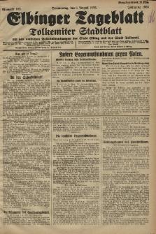 Elbinger Tageblatt, Nr. 182 Donnerstag 6 August 1925