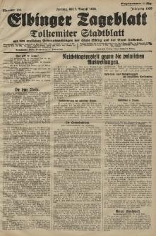 Elbinger Tageblatt, Nr. 183 Freitag 7 August 1925