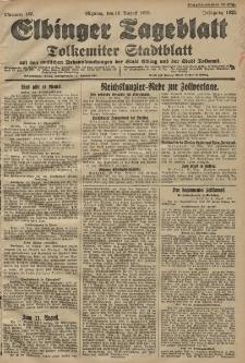 Elbinger Tageblatt, Nr. 185 Montag 10 August 1925