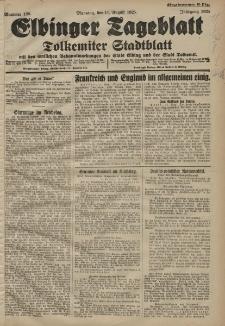 Elbinger Tageblatt, Nr. 186 Dienstag 11 August 1925