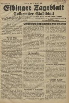 Elbinger Tageblatt, Nr. 189 Freitag 14 August 1925