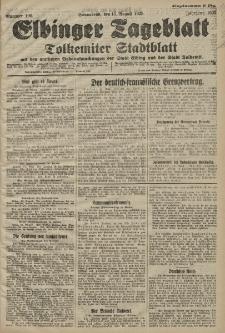 Elbinger Tageblatt, Nr. 190 Sonnabend 15 August 1925